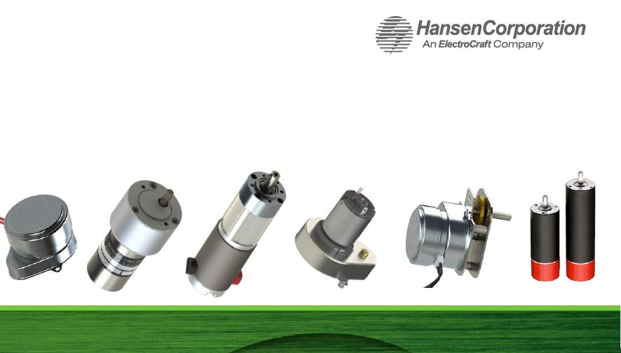 Hansen Corporation汉森精密电机Precision Electric Motors